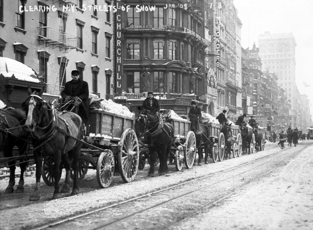 Чистка улиц в Нью-Йорке