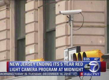 В Нью-Джерси отменили камеры фиксации проезда на красный свет