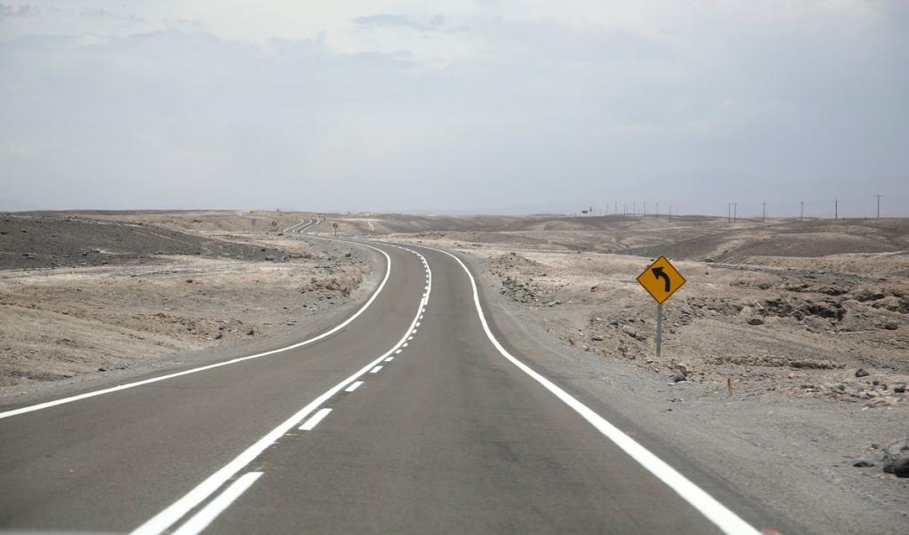 Дороги в Чили. Пустыня Атакама