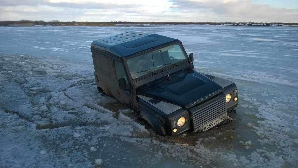 Land Rover Defender, лед