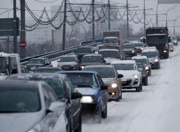 На улицах Москвы образовались 9-балльные пробки