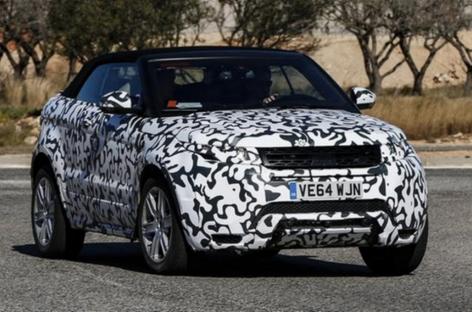 Опубликованы шпионские фото кабриолета Range Rover Evoque