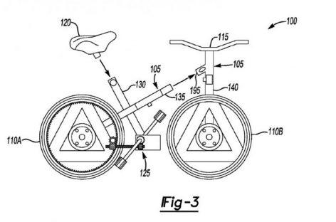 Новый патент Ford – велосипед из автомобильных запчастей
