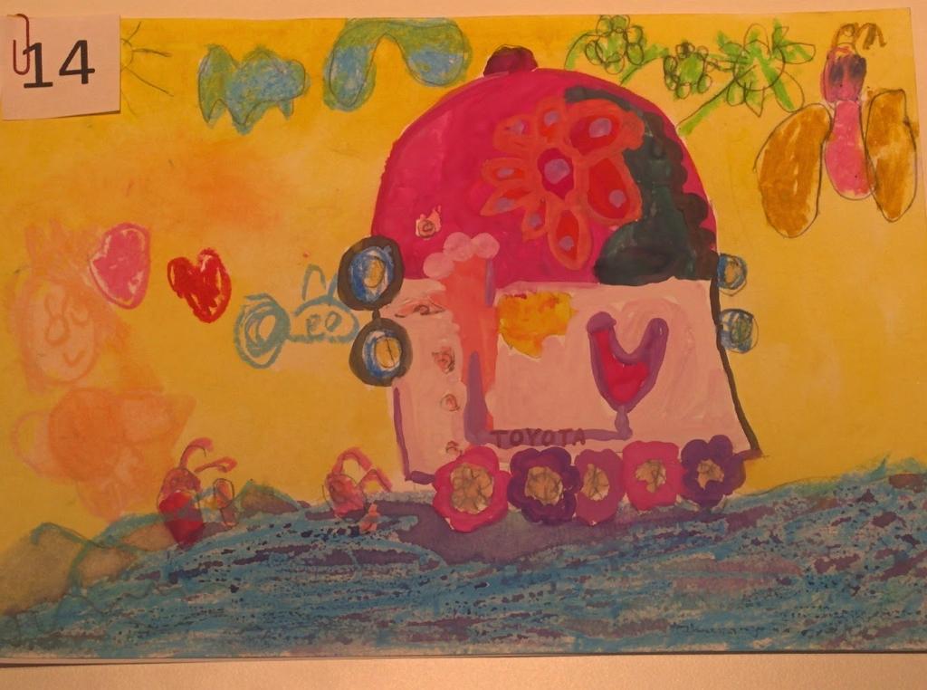 """Рисунок Елизаветы Шубиной 5 лет. """"Не цветочки, а пропеллеры"""""""