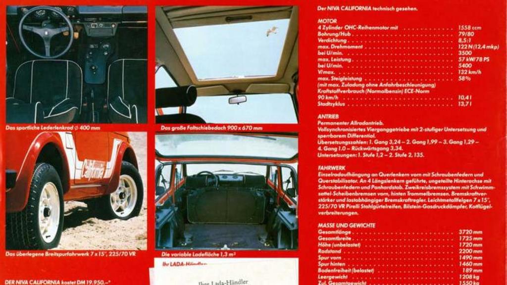 Lada Niva California (характеристики)