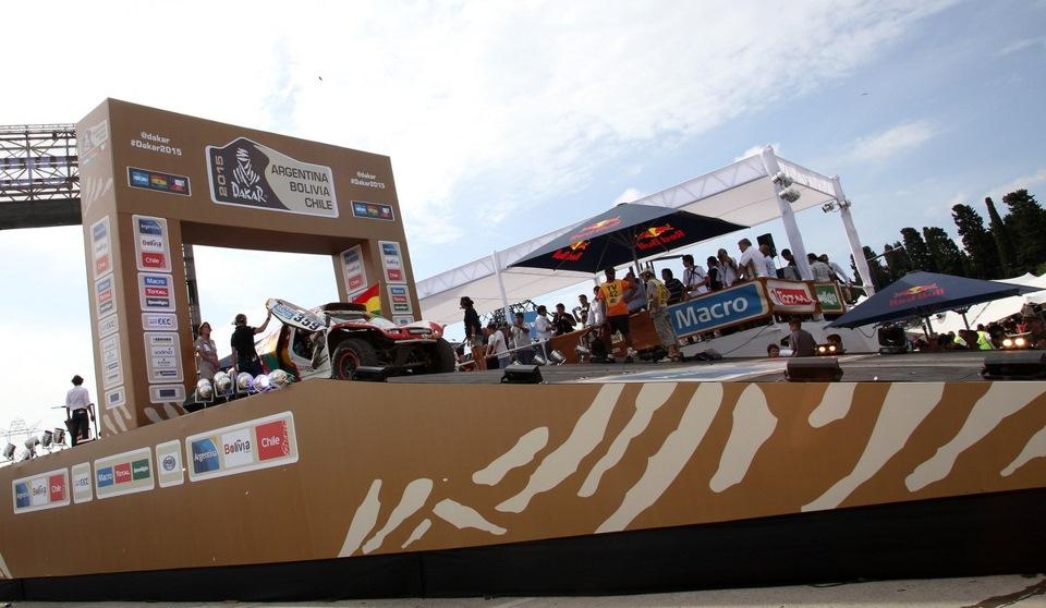 Ралли Дакар 2015 Финишный подиум