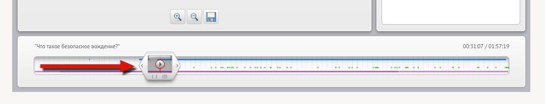 Timeline управления записью вебинара