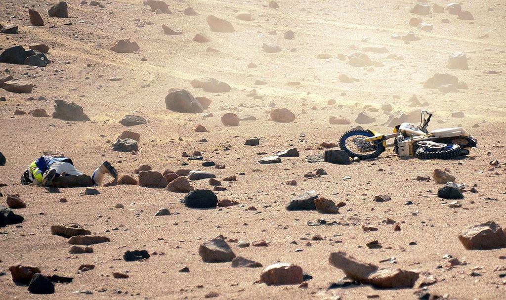 Van Bergeijk на своем мотоцикле Husaberg