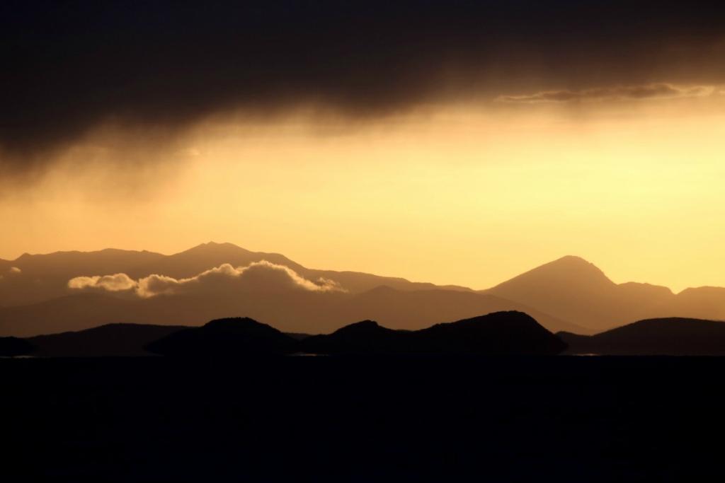 Закат в Боливии