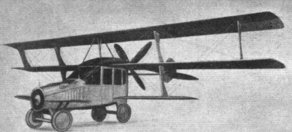 Первый в мире летающий автомобиль изобрели в 1916 году