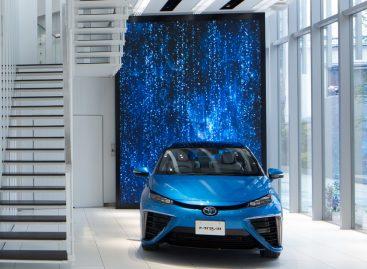 Toyota построила шоу-рум для водородного автомобиля Mirai