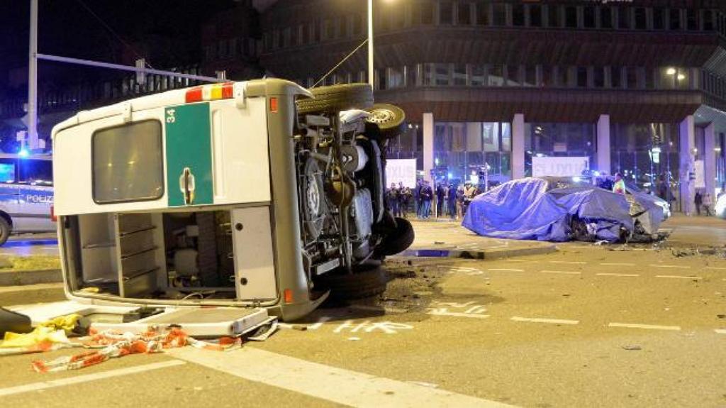 Авария с участием тестового BMW 7