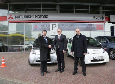 Электромобили Mitsubishi i-MiEV станут парконами