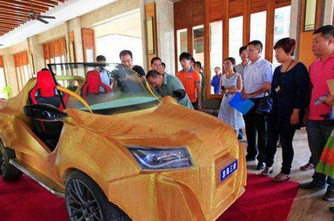 Китайцы распечатали свой первый автомобиль
