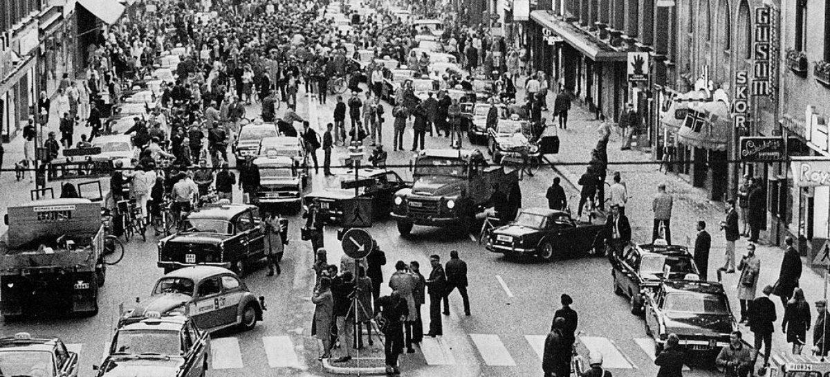 В 1968 году в Швеции перешли на левый руль