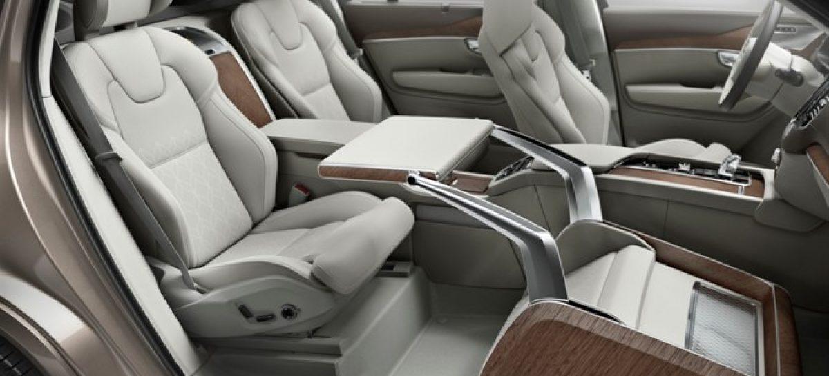 Volvo показал концепцию оснащения салона для бизнеса Lounge Console