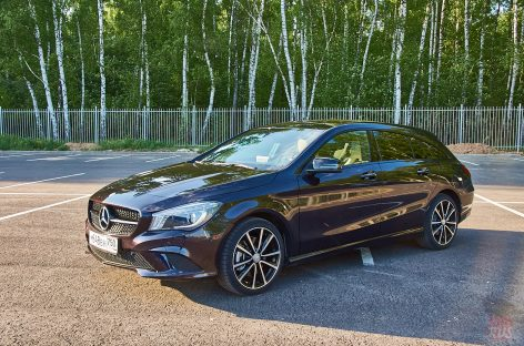 Mercedes Benz CLA 250 Shooting Brake стреляет боевыми