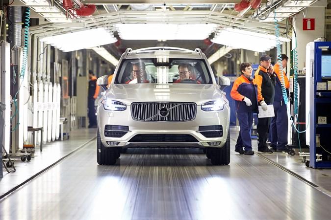 Производство нового семиместного Volvo XC90