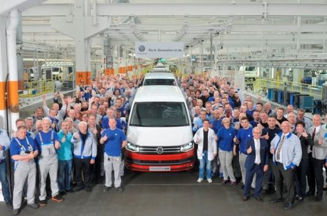 Volkswagen начал серийное производство Transporter шестого поколения