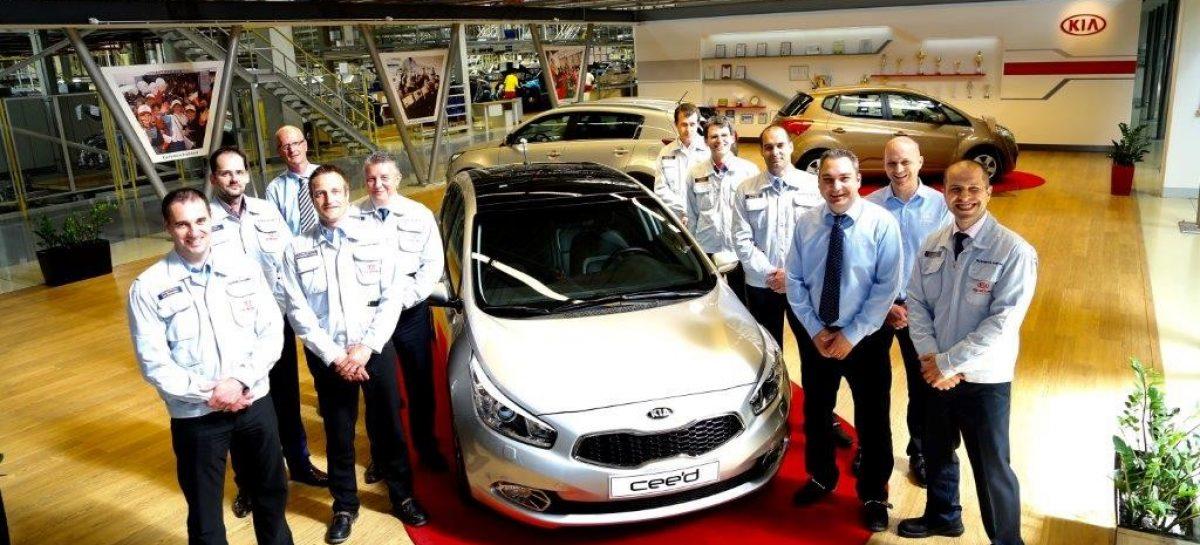 KIA сообщает о выпуске миллионного автомобиля семейства Ceed