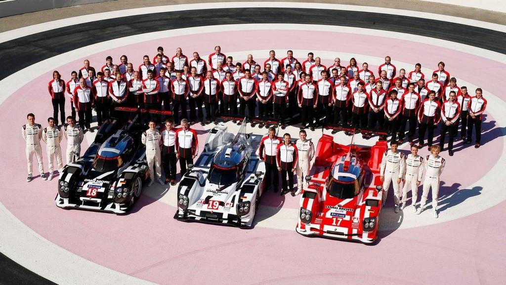 Команда Porsche на 24 часах Ле-Мана 2015