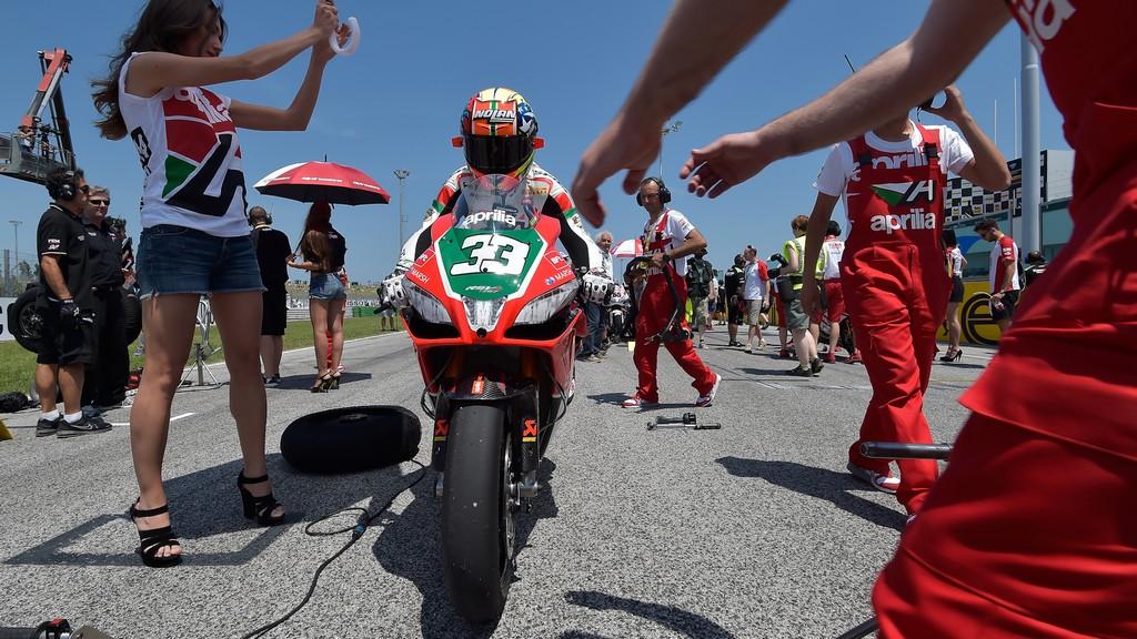 Марко Меландри, гоночная команда Aprillia