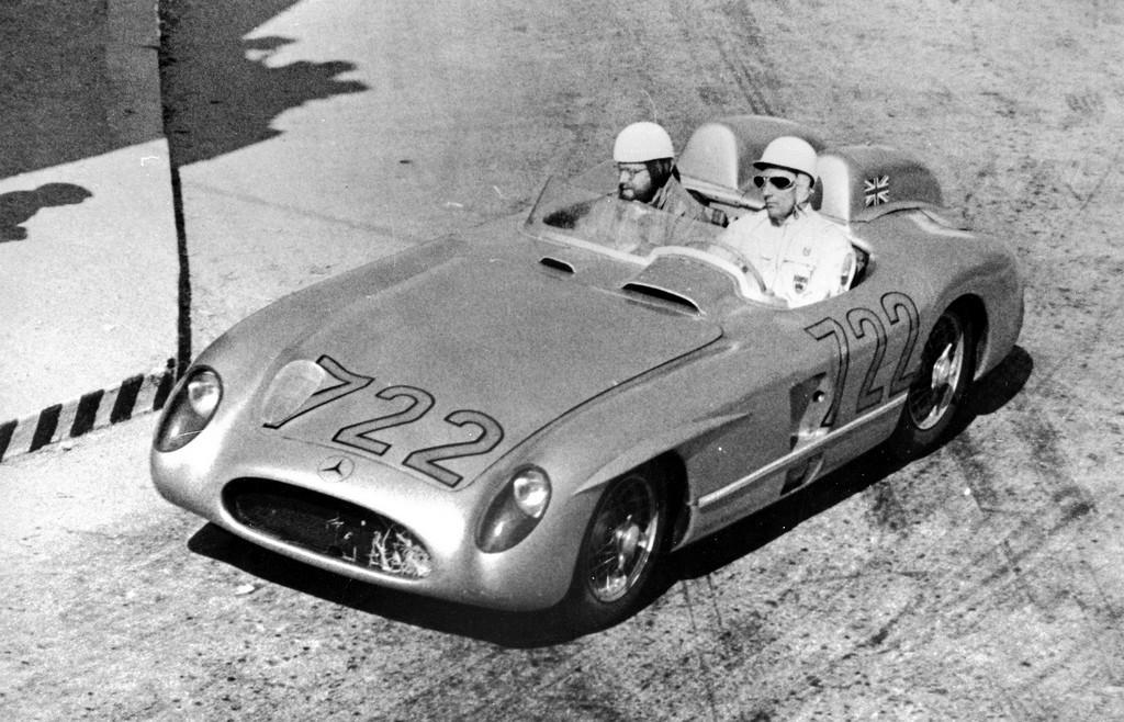 Mercedes-Benz 300 SLR на Mille Miglia 1955 года