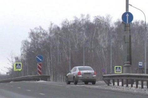 Как не надо выезжать на магистраль