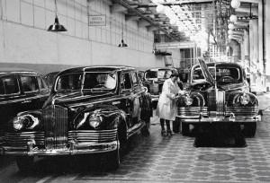 Сборка ЗИС-110 на Московском автомобильном заводе