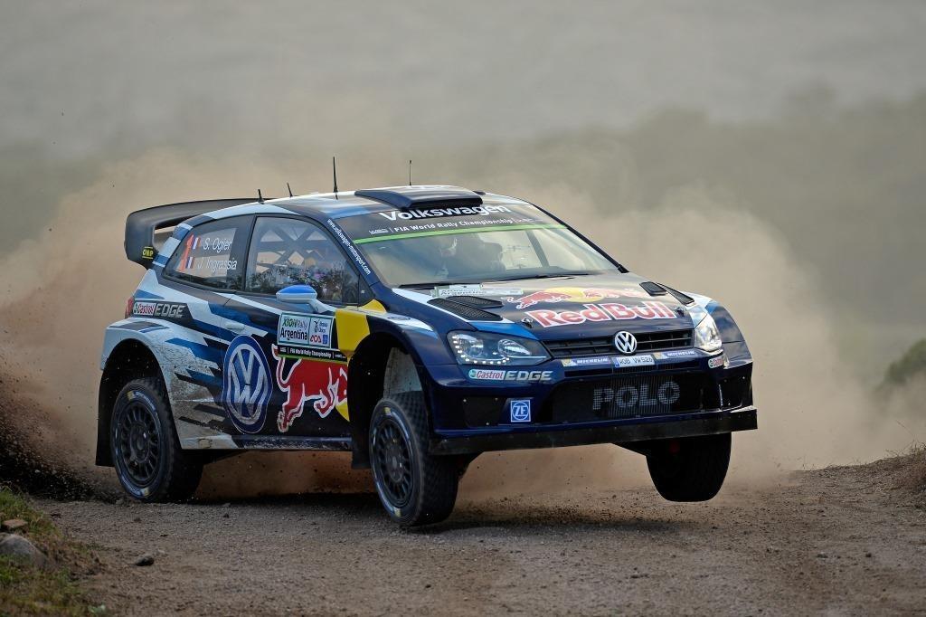 Себастьен Ожье на Volkswagen Polo R WRC