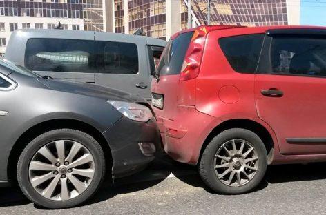 Очень распространенный вид аварий в Москве