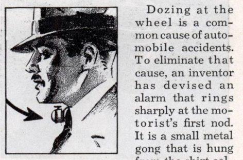 Первые системы предупреждения об усталости водителя появились в 30-е годы