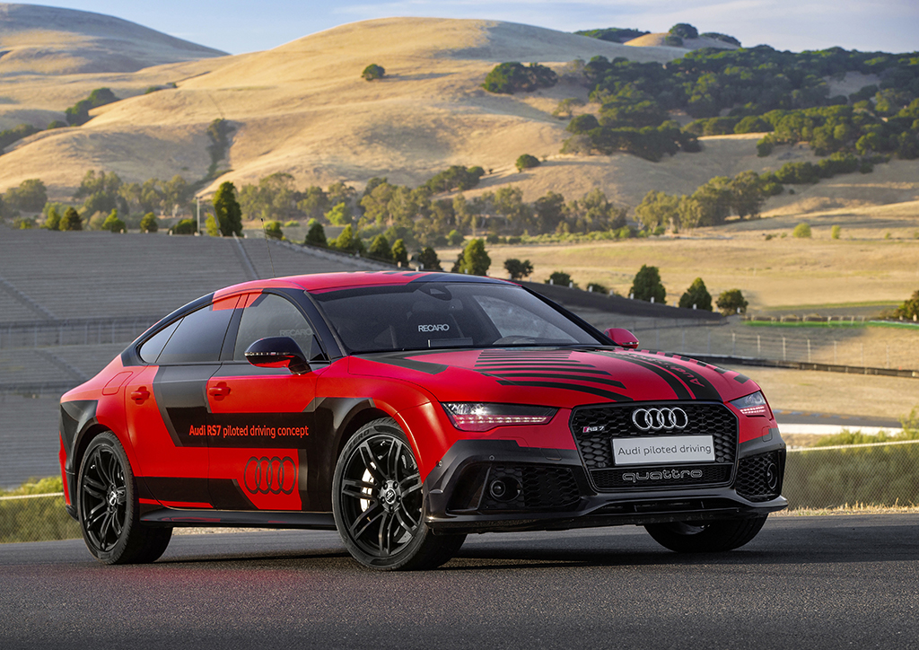 Автопилотируемый автомобиль Audi RS 7