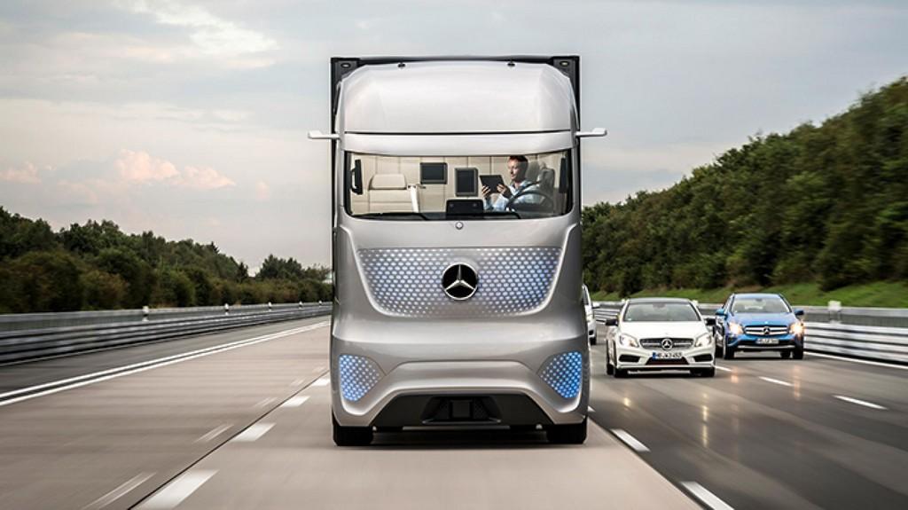Беспилотный грузовик Mercedes