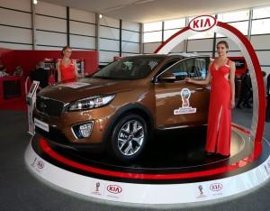 KIA на церемонии жеребьевки отборочного турнира ЧМ-2018