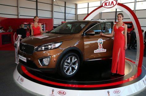 KIA помогла провести церемонию жеребьевки отборочного турнира ЧМ по футболу-2018