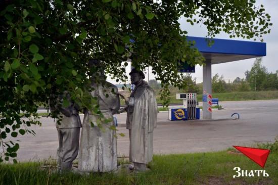 Ленин обсуждает с красноармейцами цены на топливо
