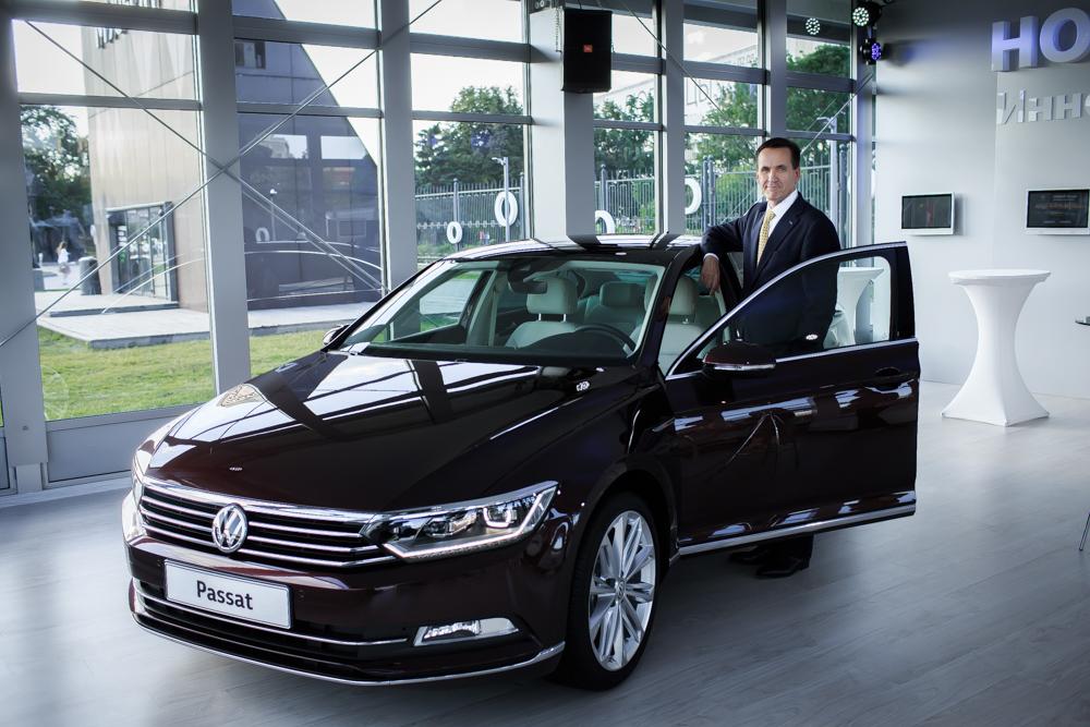 Пьер Бутен и Volkswagen Passat восьмого поколения
