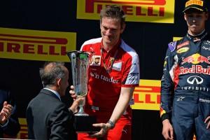 Победитель Гран-При Венгрии - Себастьян Феттель (Ferrari)
