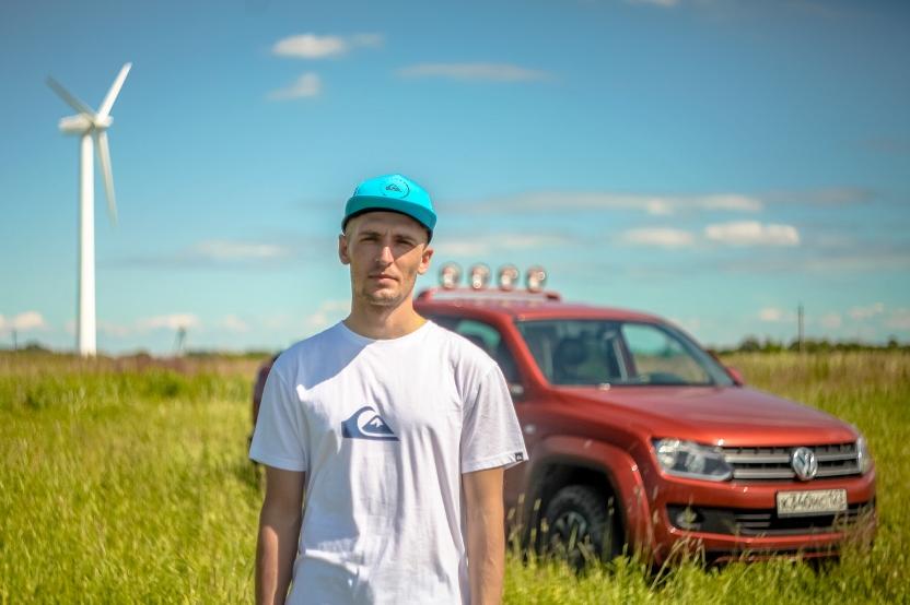 Volkswagen Amarok Canyon и серфер Сергей Расшиваев