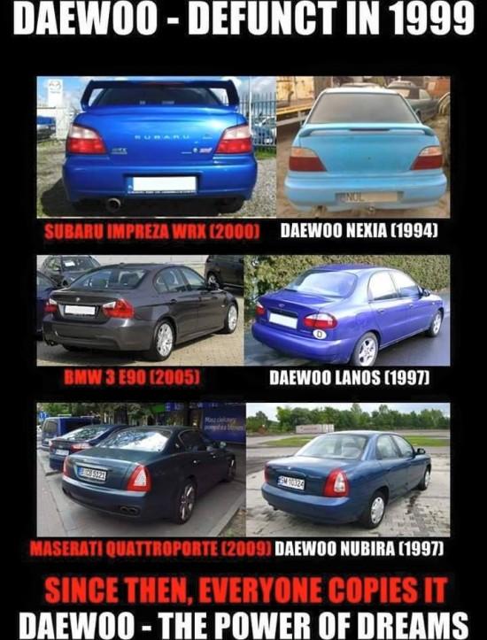 Все копируют Daewoo