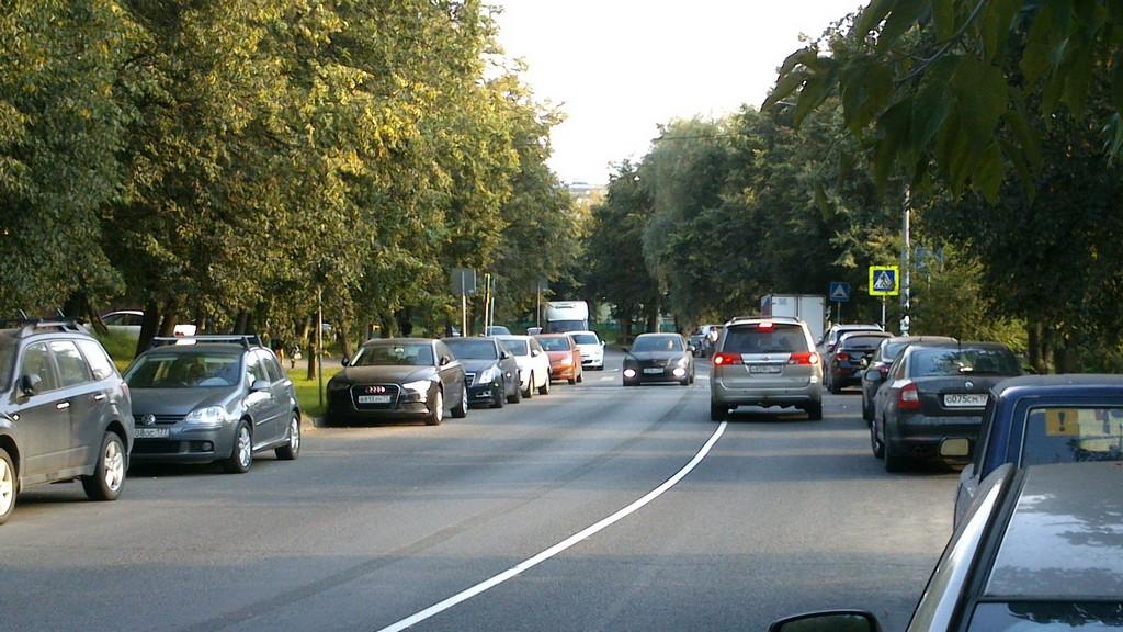 Новая разметка дорог в Москве