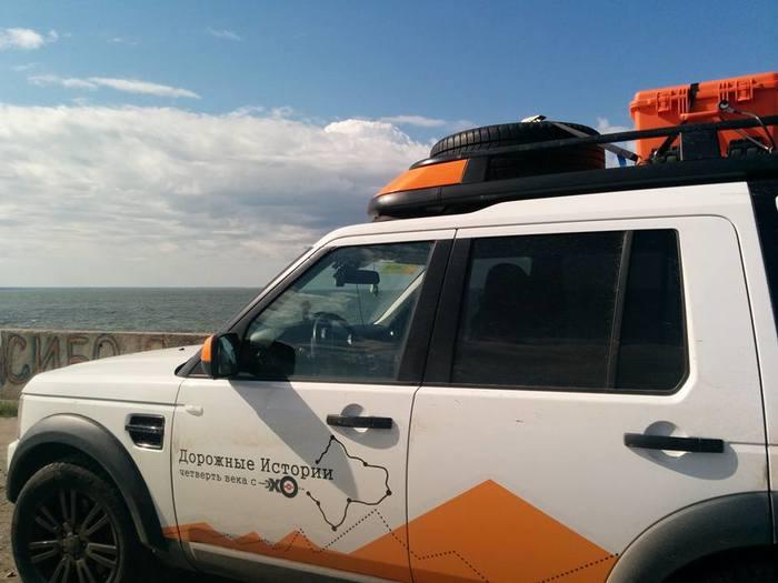 Land Rover Discovery на Обском море