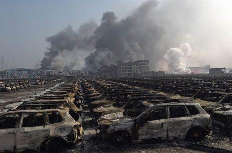 Тысячи автомобилей уничтожены взрывом