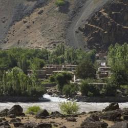 Волок Туркестан Вид с таджикской территории на Афганистан