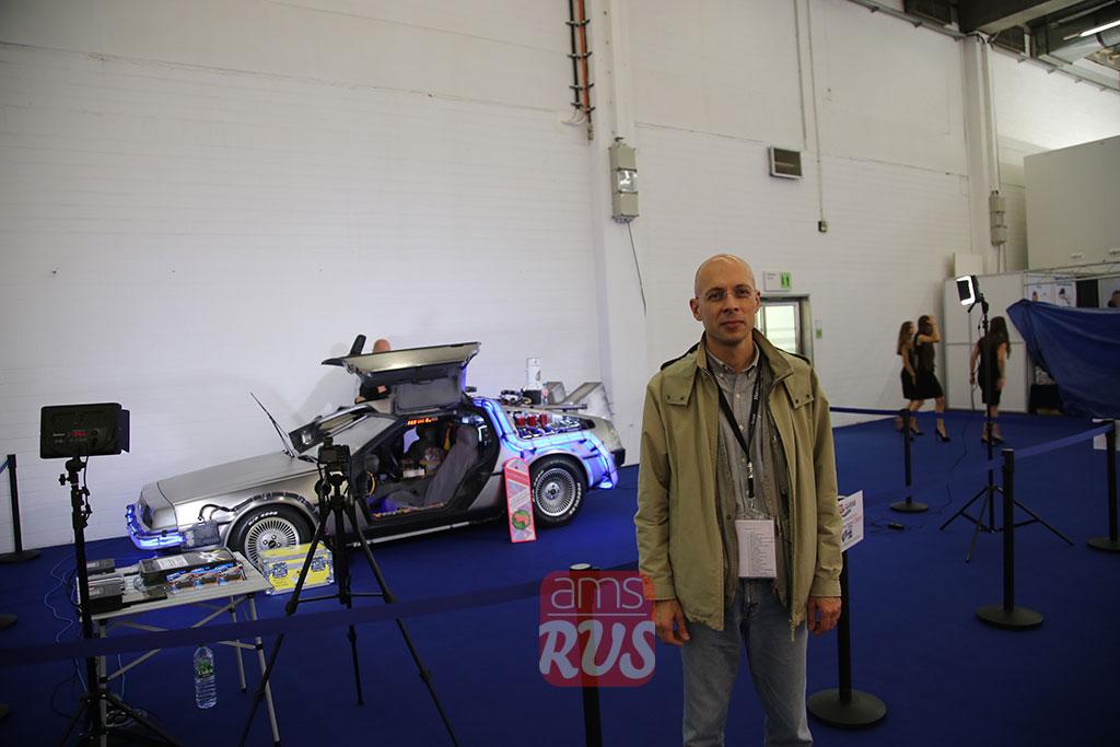 Сергей Асланян на автосалоне во Франкфурте 2015