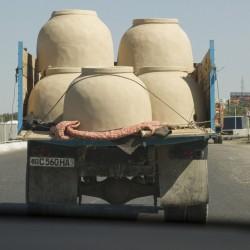 Волок Туркестан 2015 перевозка тандырных печей