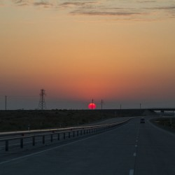 Волок Туркестан 2015 Закат