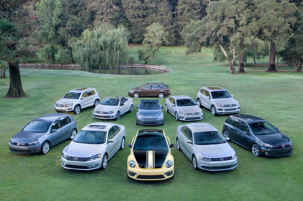 Модельный ряд Volkswagen 2014 года
