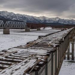Автомобильный мост через реку Витим